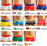 High Quality 12pcs/set Men's Underwear Boxers Underwear Flag Pants Man Underwear Boxer Shorts