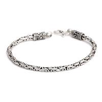 Rich 925 pure silver jewelry male women's bracelet 3mm classic fashion thai silver bracelet