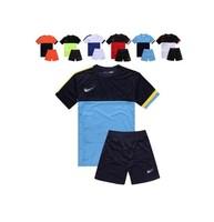 free shipping  Paintless soccer jersey paintless football training suit short-sleeve set paintless jersey
