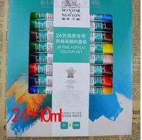 Winsor Newton winsornewton 10ml  Acrylic paint Windsor 24 colour Paints gouache art supplies