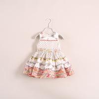 2014 New Kidsdress Frozen Peppa Wholesale Latest Product Models Girls Summer Dress Children's Clothing Cake 4pcs/lot Ze040313
