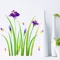 Magic fix wall stickers ofhead background wall orchid flower stair