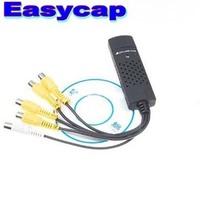 Discount USB 2.0 Easycap 4 Channel DVR CCTV Camera 4CH Video Audio Capture Adapter Card CCTV DVR for Win7 WIN8 XP VISTA X 2PCS