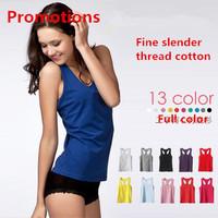 (2 Pcs Least)  2014 NEW HOT SALE summer ladies fashion long Slender thread cotton tank top vest girls sport vest free shipping