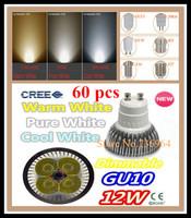 FedEX Free shipping 60 pcs Dimmable CREE 12W 9W GU10 E14 E27 MR16 B22 GU5.3 Led spotlight downlight bulb lamp led light lighting