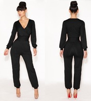 2014 Direct Selling New Overall Rompers Womens Bandage Jumpsuits Bodycon Jumpsuit Sexy Club Party Bodysuit Women Romper
