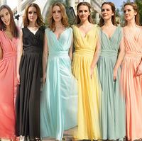 Free shipping 2014 European in women chiffon maxiskirt large size bohemian dress V-neck vest dress