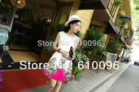 Brand new spring and summer 2014 women's sweet thin Slim printing bottoming vest dress summer dress
