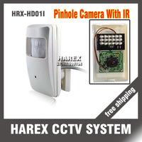 "1/4""CMOS 700TVL Detecter Pinhole Hidden 18PCS IR-LEDS Infrared CCTV Camera, free shipping !!!"