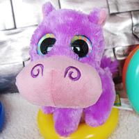 Wild republic big eyes purple hippopotami cute plush doll child birthday gift