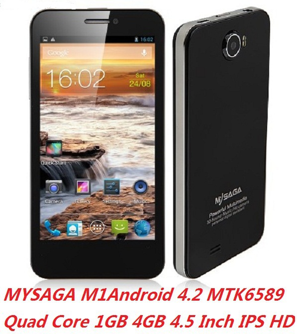 Promotion MYSAGA M1 android phones 4.5 Inch HD IPS screen 326PPI Quad core 1GB RAM 4GB MTK6589 1.2GHz 8.0MP Camera(China (Mainland))