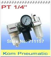 "F.R.L Unit 1/4"" Three Union Air Source Treatment SMC Type Air Filter Combination AF2000 + AR12000 + AL2000 Model AC2000-02"