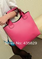 2014 Women's Handbag fashion all-match w-6 Pu  vintage bucket bag shopping tote bag picture