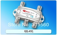 Free shipping original Gecen 4x1 Satellite DiSEqC Switch Gecen GD-41C for satellite receiver with high quality
