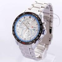 Free Shipping CURREN 6521Luxury brand Fashion Watches men Quartz Watches military watches man full steel watch 2014