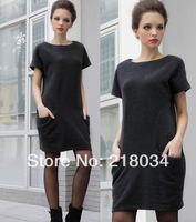 NEW  Euramerican style large size  spring autumn and winter fashion loose one-piece dress hot sale
