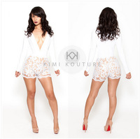 2014 new fashion elegnant white lace dress,mesh party slim white dress ,sexy clubwear short summer lace dresses for women