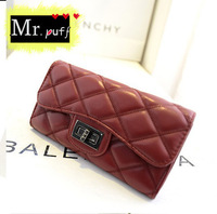 2014 new European and American big influx Wallet Quilted Threads small fragrant wind Ms. Long Wallet wallet handbag