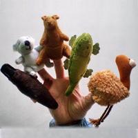 Velvet Australian Animals Style Finger Puppets Set of 5 Puppets,Stuffed Dolls, Hand Puppets For Kids Talking Props  F