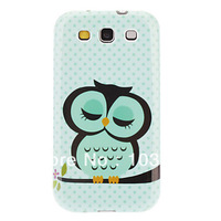 Sleeping Owl Pattern Hard Cover Case for Samsung Galaxy S3 I9300