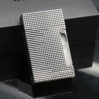 COHIBA Black Grid Embossed Jet Flame 2 Torch Cigar Cigarette Lighter W/ Punch