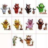 G2 Wholesale 20pcs/set Plush Cartoon Dolls Plush New 10kinds Animals Hand Puppets+Finger Puppets Kids/Baby Toys Talking Props