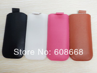 Leather Pouch Case with Pull Up Tab Strap for Nokia E52 Free Shipping 20pcs