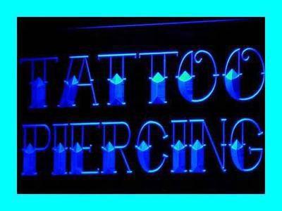 ADV PRO i296-b NEW Tattoo & Piercing Shop Logo Neon Light Sign(China (Mainland))