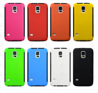 For Samsung Galaxy S5 SV i9600 Hybrid PC + GEL Built In Screen Protector 2 in 1 Case Cover Free Shipping