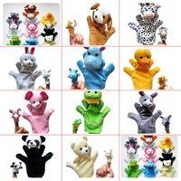 G1 Plush Cartoon Stuffed Dolls Plush 10kinds Animals Hand Puppets+Finger Puppets Kids/Baby Plush Toys Talking Props 5set/lot