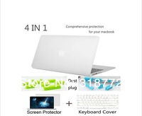 4 in1 Crystal Transparent Case Shell Protector Cover skin plug for Macbook  Air 11''Air 13'' Pro 13'' Pro 15'' Retina 13'' 15''