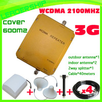 1 Set Cover 600M2 WCDMA980 UMTS WCDMA 2100Mhz 3G mobile phone signal repeater  2100mhz 3G booster RF repeater for 3G 2100mhz