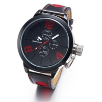 Hot-selling v6 watch the trend fashion of personality unique men wristwatch vintage strap watch mans watch free shipping