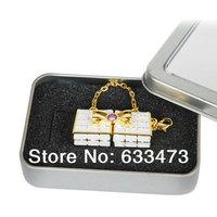 wholesale Crystal handbag keychain Jewelry USB Flash Drive  4G 8G 16G 32G memory Stick key u disk