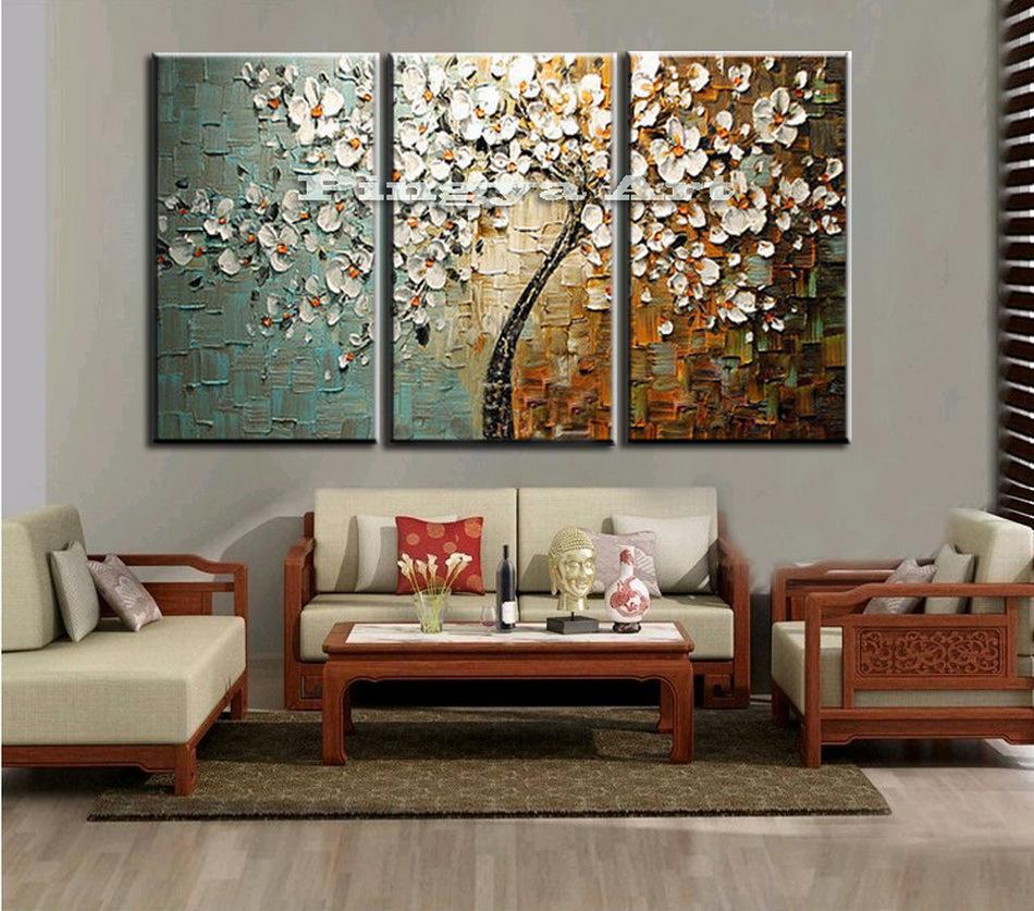 Peinture l 39 huile de paon promotion achetez des peinture - Tableaux modernes pour salon ...