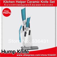"""4"""" 6 """"inch 4 color Handle Can Select Ceramic Knife Set + Peeler + Holder kitchen ceramic knives"""