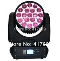 Free shipping 19x12W Quad color Beam LED Moving Head Wash Zoom