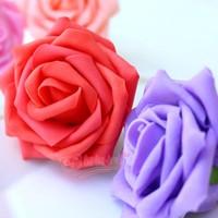 Flower head Artificial Flowers Pentagon PE rose bouquet flowers Wedding party Flower Home Decor free ship