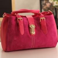 2014 new European and American street fashion nubuck leather female bag retro fashion pieces of red tide handbag shoulder bag
