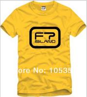 Wholesale -2014 new FT/ft island short-sleeved t-shirts 100% cotton men's / women's Korean version of T-Shirts 6 colors 6 colors