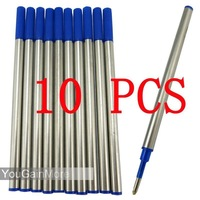 2014 Freeshipping Refill Lot of 10 Jinhao High Quality Roller Ball Pen Refills Blue Ink