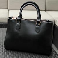 2014 new Korean version of the influx of black briefcase bag retro bag woman bag large shoulder bag diagonal