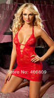 Europe and America Sexy Lingerie sexy lingerie black and red color uniform temptation pajamas wholesale manufacturers