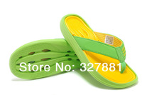 New 2014 Summer Men Casual Flat Sandals,Adi Leisure Soft Flip Flops,EVA Massage Beach Slipper Shoes For Men Size 40-44