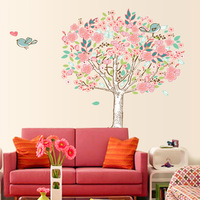 New 2014 Tree Wall Decals for Nursery Restaurant Home Decorations Love Bird Family Tree Wall Decal