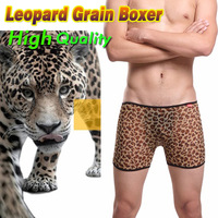 3 PCS/Lot Uzhot Leopard Print Lace Sexy Temptation Transparent Gauze Male Panties Men's Boxer Panties Men's Underwear Wholesale