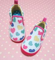 Baby Shoes Child canvas shoes love multicolour soft outsole single shoes pedal children shoes spring and autumn breathable
