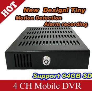 3G GPS Car DVR 4 Channel SD Card Mobile DVR H.264 car camera - H720A(China (Mainland))