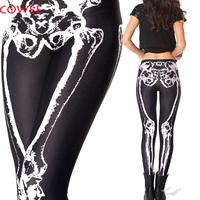 Free shipping+2014 women skeleton digital printed pants black milk black bone LEGGINGS brand clothes for womans
