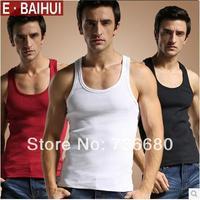 Free Shipping Mens Summer Good Quality Casual Vest Cotton Sports Slim Design Men's sleeveless Pure 6 Colorful Vest Shirt shirt